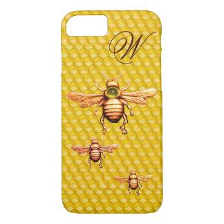 GOLD HONEY BEES MONOGRAM iPhone 8/7 CASE