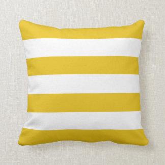 Gold Horizontal Stripes Cushion