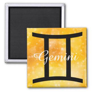 Gold Horoscope Sign Gemini Magnet
