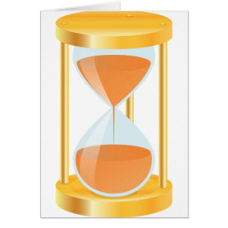 Gold Hourglass Greeting Cards