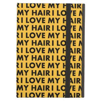 Gold I Love My Hair Bold Text Cutout iPad Air Cover