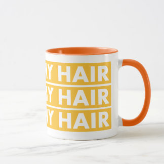 Gold I Love My Hair Bold Text Cutout Mug