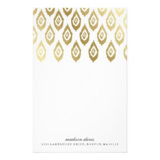 Gold Ikat | Personalized Stationery
