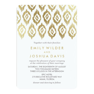 Gold Ikat | Wedding Invitation