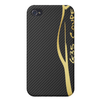 Gold Infiniti G35 Logo with Faux Carbon Fiber iPhone 4/4S Case