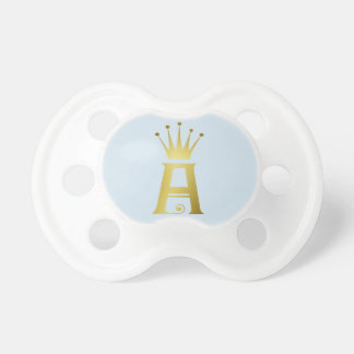 Gold Initial A Letter Monogram Baby Pacifier