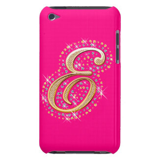 Gold Initial ''E'' - Pink iPod Touch Case