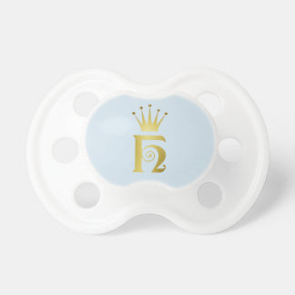 Gold Initial H Letter Monogram Baby Pacifier