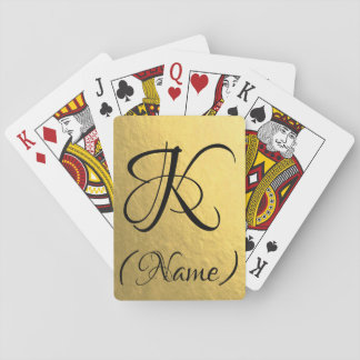Gold Initial | Playing Cards