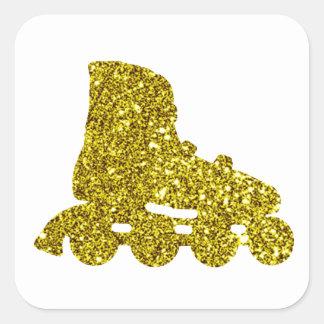 Gold Inline Skate Sticker
