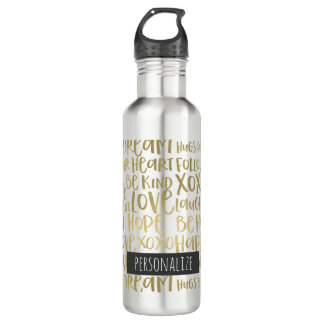 Gold Inspirational Words Personalized 710 Ml Water Bottle