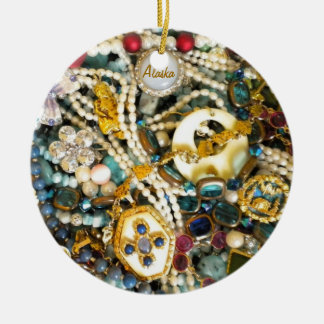 Gold & Ivory Round Ceramic Decoration