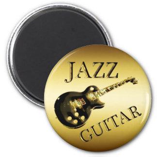 GOLD JAZZ GUITAR FRIDGE MAGNET
