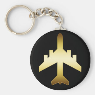 GOLD JET AIRPLANE KEY CHAIN