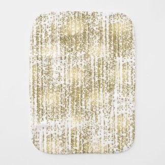 Gold Jewel Bokeh Abstract Baby Burp Cloths