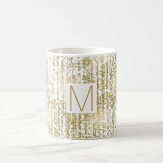 Gold Jewel Bokeh Abstract Monogram Coffee Mug