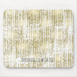 Gold Jewel Bokeh Abstract Personalized Mouse Pad