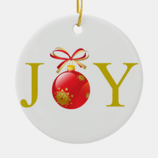 Gold Joy Christmas Ornament