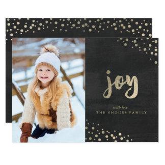 Gold Joy Holiday Photo Card