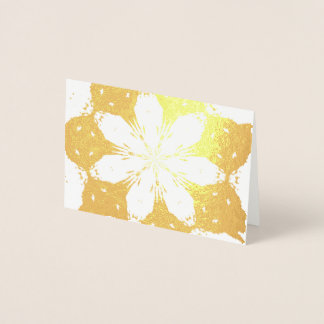 Gold kaleidoscope card