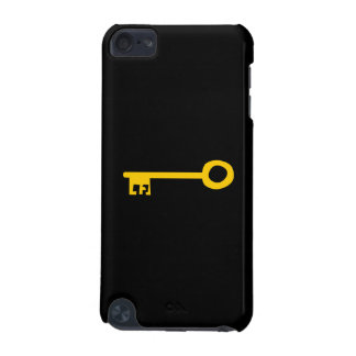 Gold Key on Black iPod Touch (5th Generation) Cover