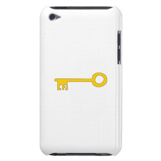 Gold Key on White iPod Touch Covers