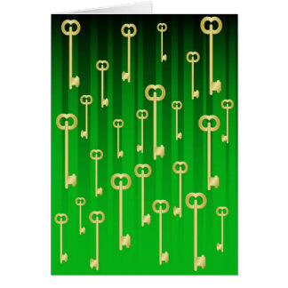 Gold keys on Green Card