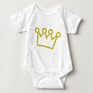 gold king crown deluxe baby bodysuit