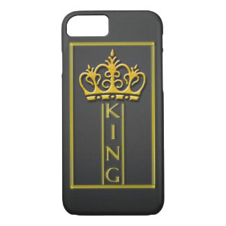 Gold King design iphone 7 case. iPhone 8/7 Case