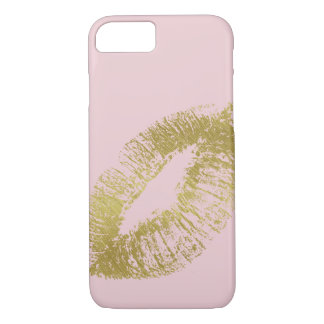 Gold Kiss Lips iPhone 7 Case