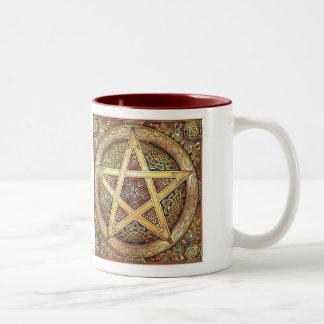 Gold Knotwork Pentacle Mug