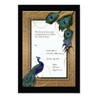 Gold & Lace Baroque Formal Wedding RSVP Response 9 Cm X 13 Cm Invitation Card