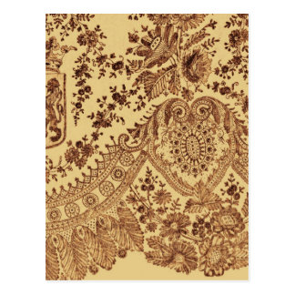 Gold Lace Flowers Postcard