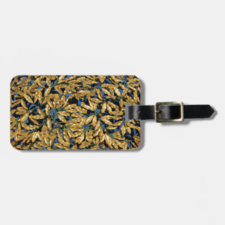 Gold Laurel Leaves Luggage Tag