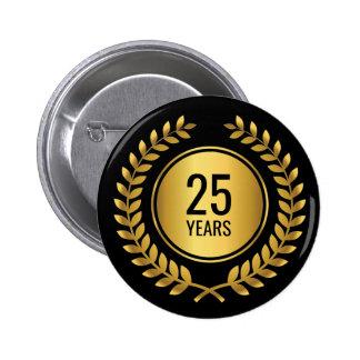Gold Laurel Wreath Length of Service Award 6 Cm Round Badge