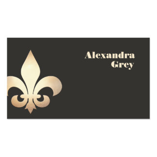 Gold Leaf Fleur de Lis Business Card