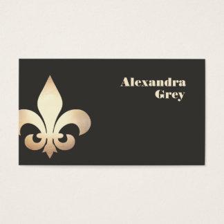 Gold Leaf Fleur de Lis Business Card