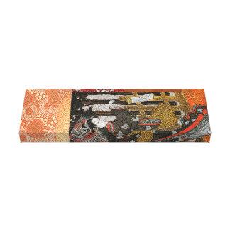 Gold Leaf Geisha with Parasol Canvas Print