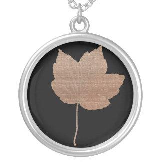Gold leaf, necklace