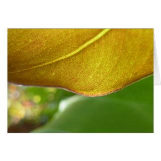 Gold Leaf Notecard Card