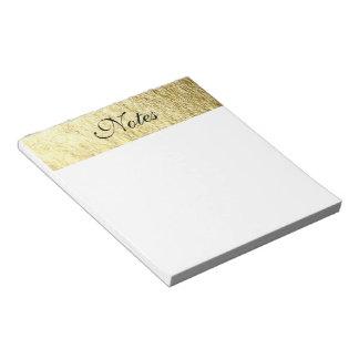 Gold Leaf Photo Notepad