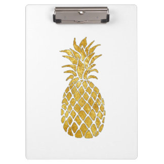 gold leaf pineapple look clipboard