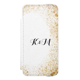 Gold Leaf Spray Wedding Gift Incipio Watson™ iPhone 5 Wallet Case