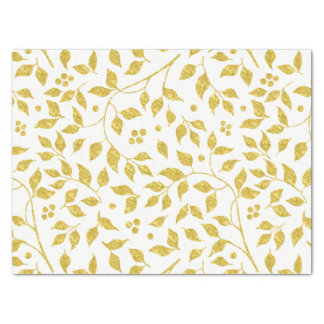 Gold Leafs Pattern Tissue Paper