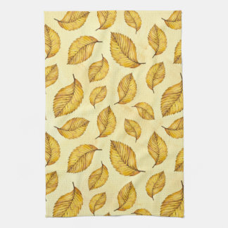 Gold Leaves Hand Towels