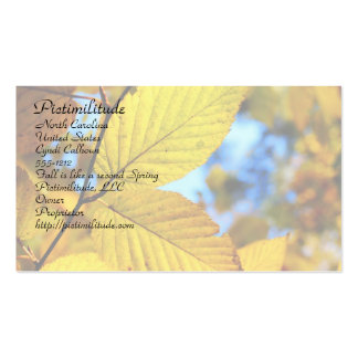 Gold Leaves in Autumn Business Card