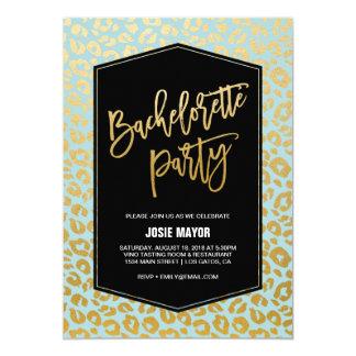 Gold Leopard Bachelorette Party Invitation