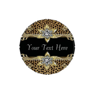 Gold Leopard Candy Tin