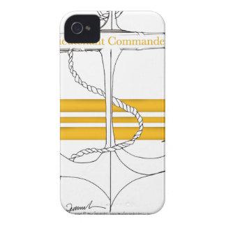 gold lieutenant commander, tony fernandes iPhone 4 case
