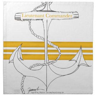 gold lieutenant commander, tony fernandes napkin